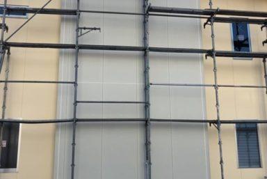 ライファ今治:今治市伯方島で外装壁、外装床のタイル工事。