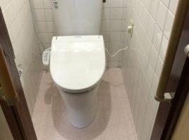 ライファ今治:LIXILアメージュZ(フチレス)トイレ取り替えリフォーム。