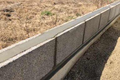 ライファ今治:コンクリートブロック積みとフェンス工事