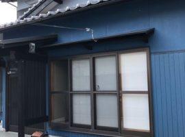 ライファ今治:屋根の葺き替え、外壁塗装工事です。コバルトとブルーグレイの色分け塗装。
