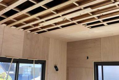ライファ今治:和室リフォーム壁下地完成しました。