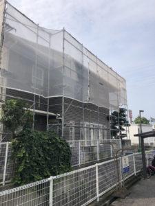 今治市 外壁塗装 ペンキ屋 アステックペイント 超低汚染リファイン 足場