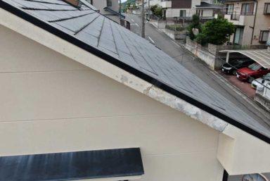 ライファ今治:今治市外装工事。外壁塗装前に破風板の破損を補修します。