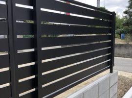 ライファ今治:ブロック4段積み+Ykkapアルミフェンス設置工事