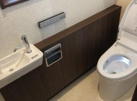 ライファ今治:LIXIL「サティスS手洗いカウンター付」オシャレなトイレにリフォーム