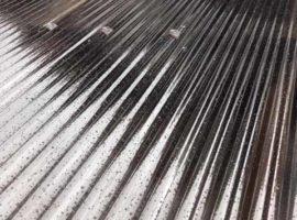ライファ今治:木製テラスの波板の張替え。長年放置して割れていませんか?