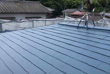 ライファ今治:アステックペイント「超低汚染リファインフッ素」を使っての屋根外壁塗装工事完工しました。