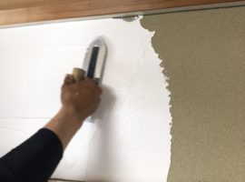 ライファ今治:フジワラ化学の「リフレタッチ」を使って和室の珪藻土(けいそうど)塗りリフォーム