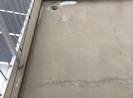 ライファ今治:バルコニーからの雨漏り修繕。ポリマーセメント系塗膜防水材「ビッグサン」